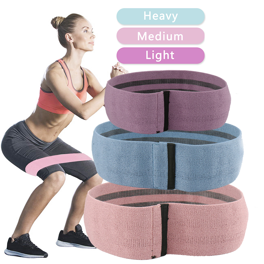 Resistance Loop Bands Hip Fitness Band Thighs Arm For Expander Training Yoga Pilates Workout Home Gym Equipment image