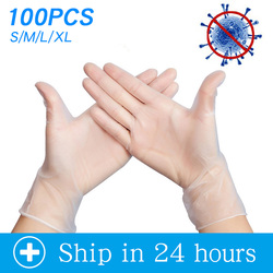 Anti infection Gloves 100pcs/lot Food Grade Waterproof Allergy Free Disposable Work Safety Gloves ffp3 Glove Mechanic