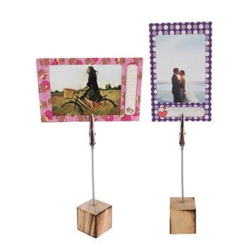 10 sztuk drewniane ramka na zdjęcia klip ramka na fotografię zaciski karty notatki wiadomość Memo Craft proste Menu ślubne krzesło klip zaopatrzenie firm tanie i dobre opinie CN (pochodzenie) Drewna