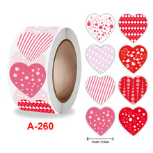 500pcs heart Love Packaging  Sticker  Roll Thank you Scrapbooking  Label Washi Stickers Festival Birthday Gift Decorations