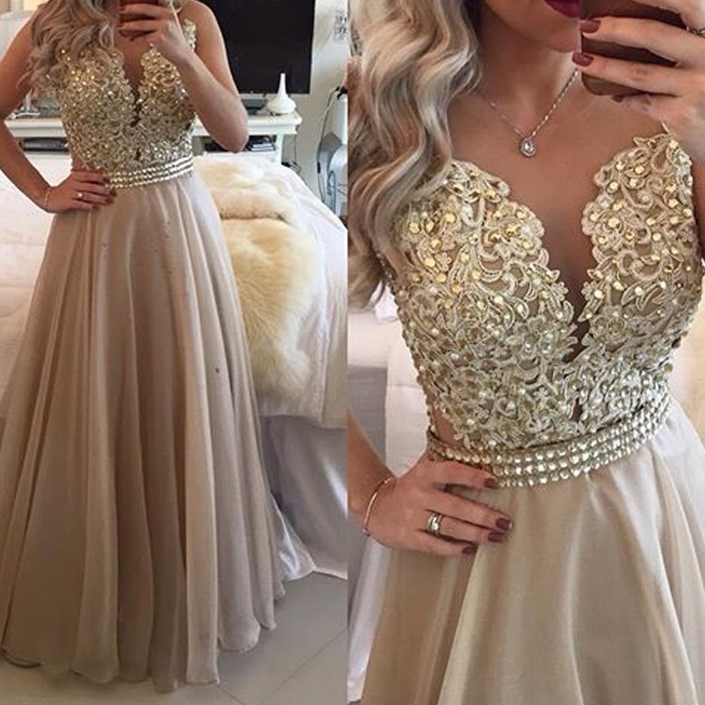 Sexy Sweetheart Gray Lace Appliques Prom Gown Illusion Robe De Soiree Evening Gowns 2018 Mother Of The Bride Dresses
