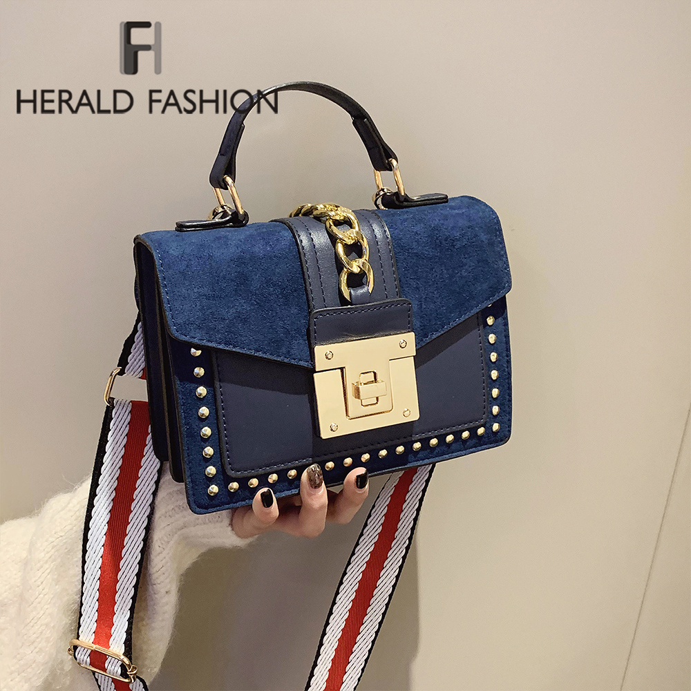 Luxury Handbags Female Bags Designer Rivet Crossbody Bags For Women 2020 Fashion Small Messenger Shoulder Bag Ladies Hand Bag