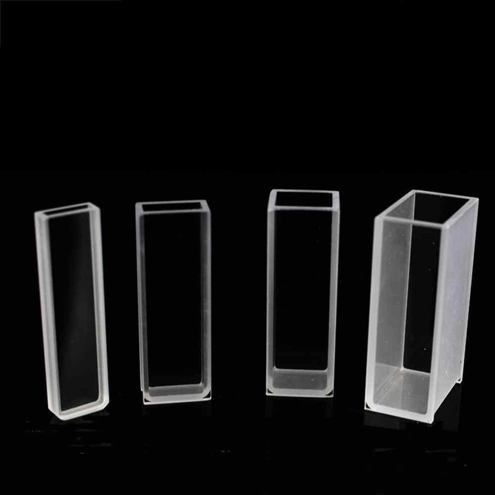4 Uds. Cubeta celular de vidrio de 10mm de largo con tapa para espectrofotómetros