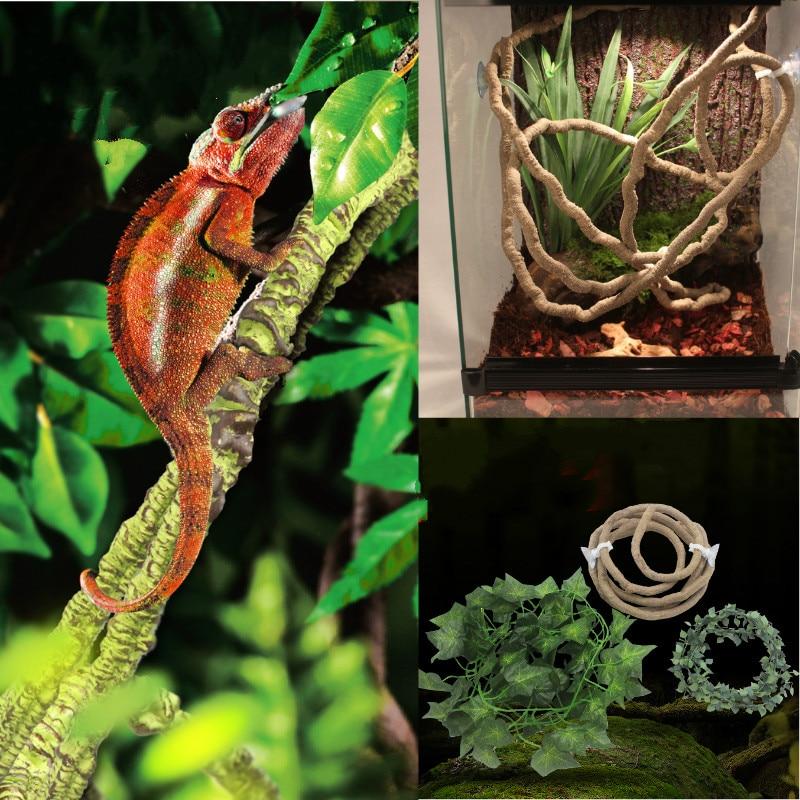 Terrarium Reptile Jungle Vines Flexible Bendable Jungle Climber Reptile Pet Supplies Reptiles Terrarium Decor Accessories