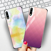 Tempered Glass Case For Huawei Y6 2019 Y8P Y7P Case Silicone PC Cover For Huawei Y9 Y7 Y6 Y5 Prime 2018 Honor 7C 7A Pro Cases for huawei y6 2019 case cover for huawei y6 2019 finger ring pc tpu phone case protective hard armor case for huawei y6 2019