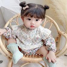 Осенняя одежда для девочек хлопковый комбинезон с длинным рукавом