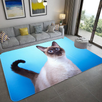 Modern Cartoon Large Size Mats 3D Printed Child Bedroom Game Carpets for Living Room Home Rug Soft Flannel Kids Room Area Rugs