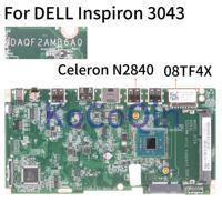 KoCoQin Laptop motherboard Für DELL Inspiron 3043 Celeron N2840 Mainboard CN 08TF4X 08TF4X DAQF2AMB6A0 SR1YJ CPU-in Laptop-Hauptplatine aus Computer und Büro bei