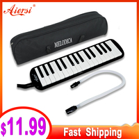 Aiersi 32 Key Melodica Piano Melodic Keyboard Instrument musical gifts with Carrying Bag Strap Mouthpiece