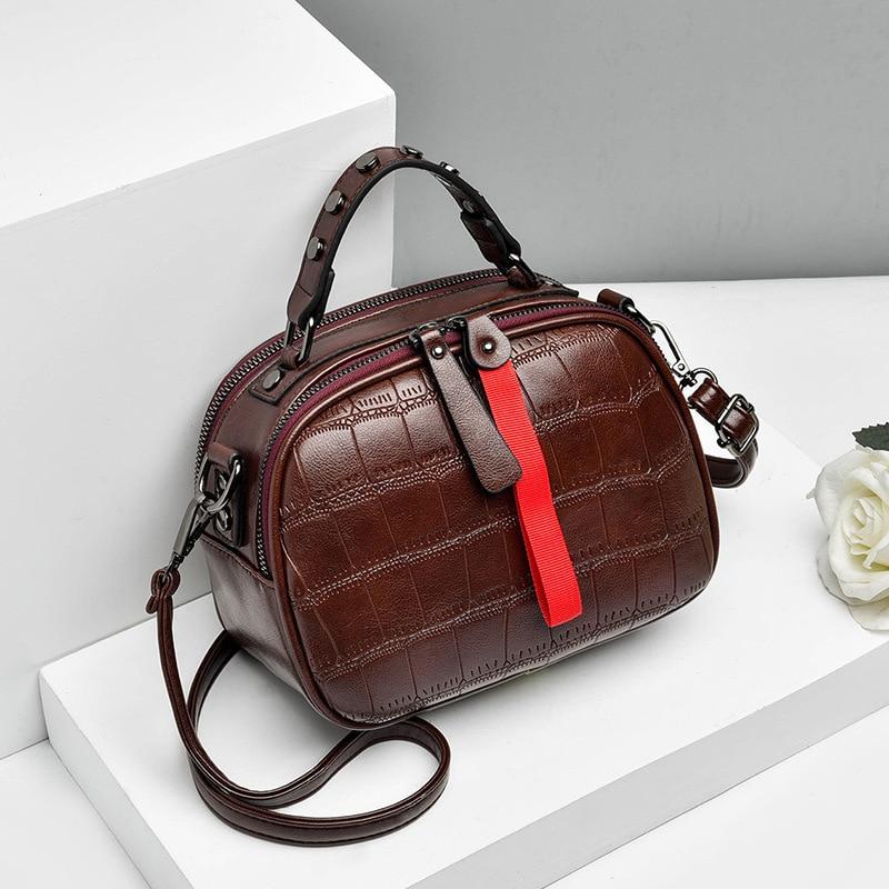 Image 2 - New 2019 Fashion Women Bag One shoulder Leather Handbags Korean Shoulder Bag Small Flap Crossbody Bags For Women Messenger BagsShoulder Bags   -