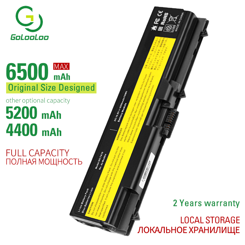 Golooloo 6 Cells Laptop Battery For Lenovo ThinkPad L510 L512 L520 L530 SL410 SL510 T410 T410i T420 T420i T430 T430i T510 T510i