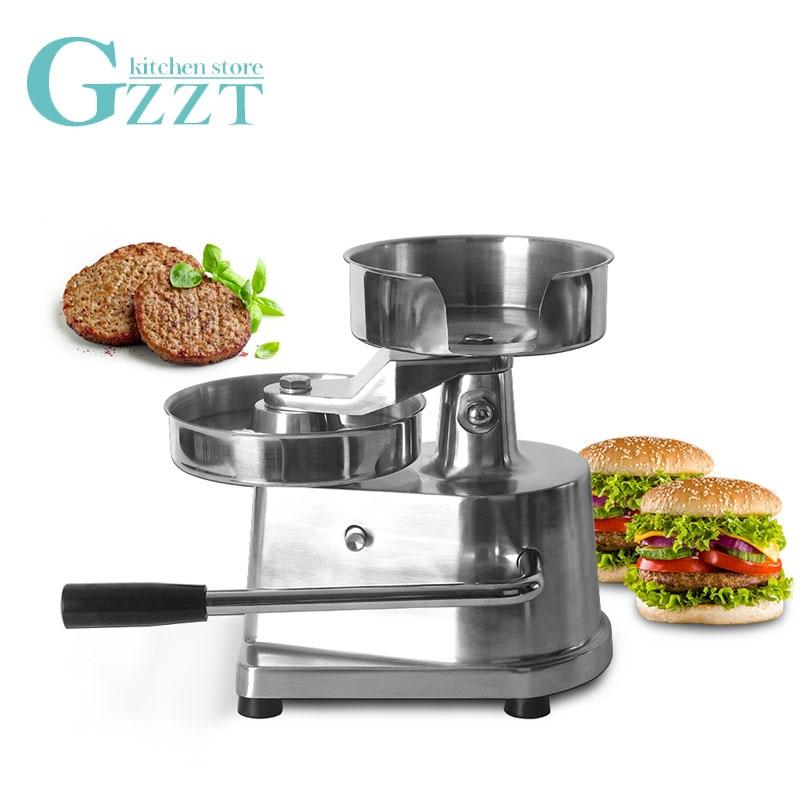 Hamburger Machine 100mm/130mm/150mm Manual Hamburger Press Maker Stainless Steel Meat Press AM10/AM13/AM15/IT-150 Hot Sales