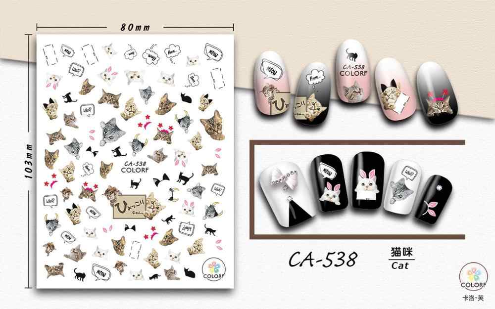 CA529-568 Nail Sticker Bloem Lijm Diy Manicure Slider Nail Art Tips Decoraties Decals