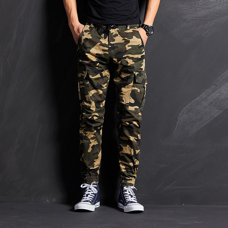 2019 Autumn New Products Camouflage Elasticity Beam Leg Slim Fit Camouflage Pants MEN'S Trousers Bib Overall Popular Brand Shawn