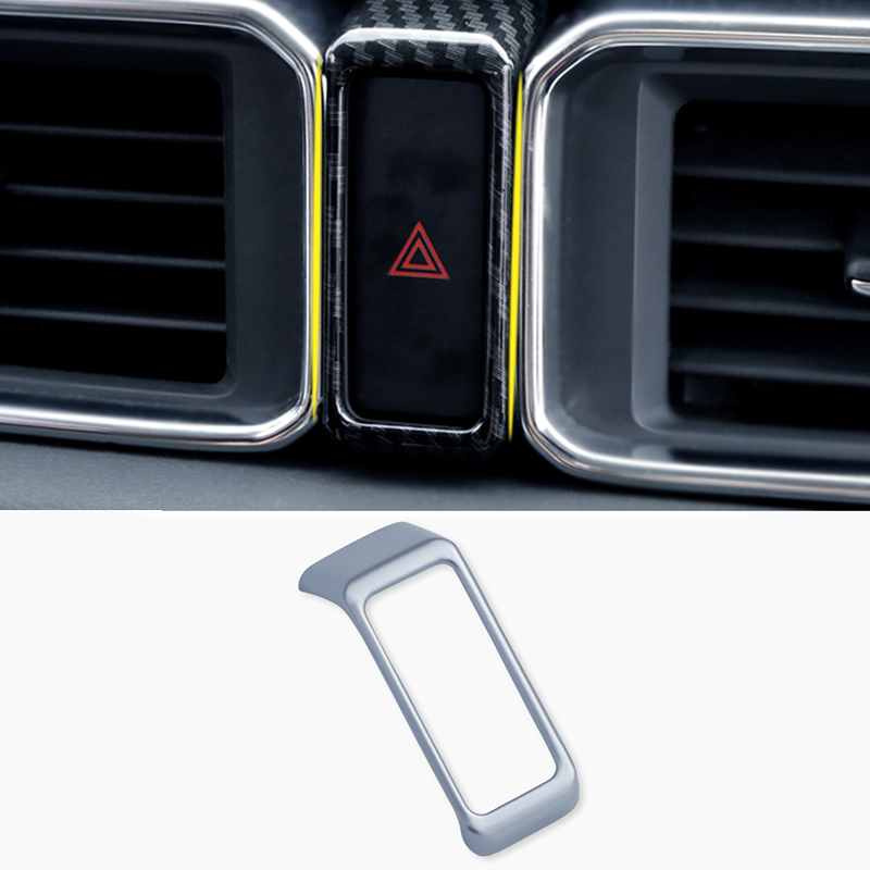 For <font><b>MAZDA</b></font> CX-5 <font><b>CX5</b></font> CX 5 2017 2018 <font><b>2019</b></font> Car Dashboard Double Flash Warning Light Lamp Switch Frame Cover Sticker Trim <font><b>Accessories</b></font> image