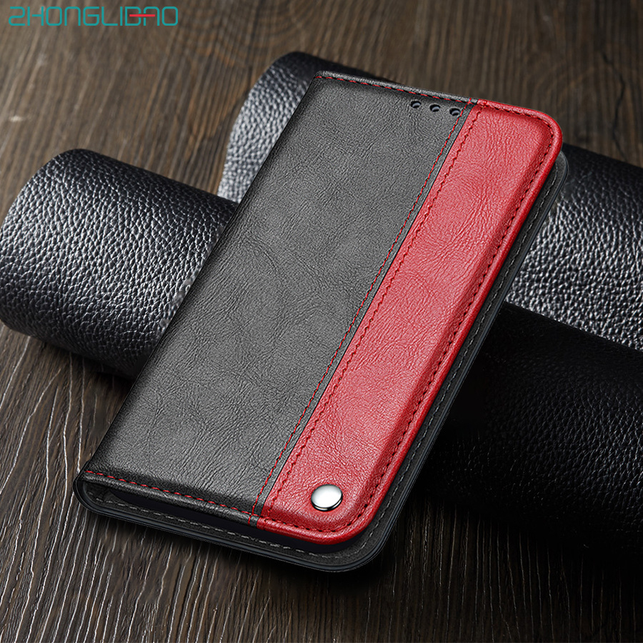 PU Leather Flip Wallet Case for <font><b>Samsung</b></font> Note 10 S10 S9 S8 Plus S10e A50 <font><b>A70</b></font> A40 A30 A20 A10 S7 S6 Edge M30 Magnetic Book Cover image