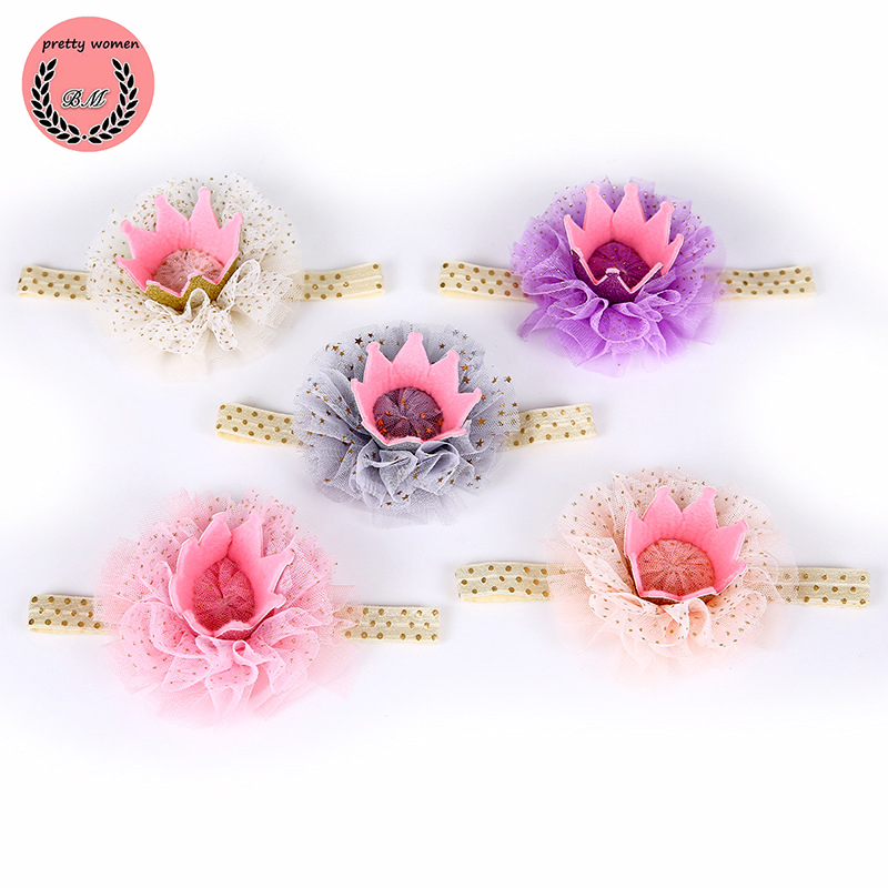 Children's Crown Hairpin for Women Hair Accessories Headwear Lace Princess Lovely Birthday Present Charm Jewelry Gift