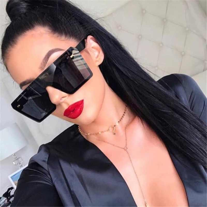 Resonar fiesta Plano  Moda novedosa gafas de sol de las mujeres cuadrado de gran tamaño  protección UV planos Retro Top gradiente de gafas tendencia de hombre al  aire libre gafas|Gafas de sol para mujer| -