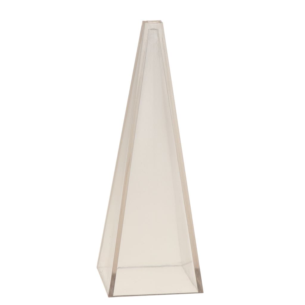 Candle Candle Mould Soap Clay Craft Pyramid Clear Plastic