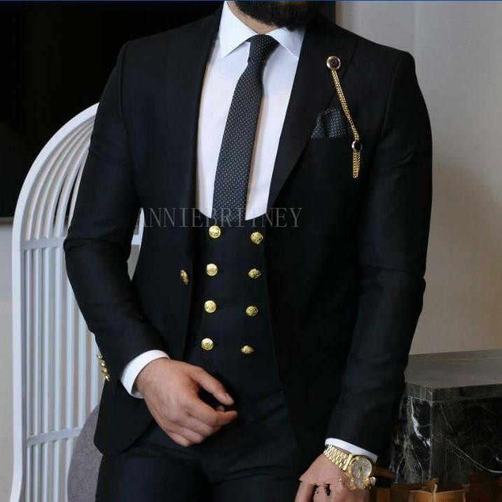 2018 最新コートパンツデザイングリーン男性スーツビジネススリムフィットスキニーフォーマル新郎 3 ピーススーツタキシードカスタム Terno masculino