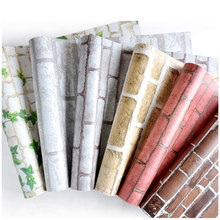 10M Self Adhesive PVC Wallpaper 3D Brick Stone Vinyl Wall Stickers for Living Room Bedroom Wall Vintage Home Decor
