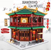 Chinese Building Series The Toon Tea House Set Blocks Bricks Kids Toys Model Birthday Dhl Xingbao 01021 3033pcs
