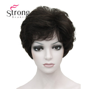 Image 3 - StrongBeauty Womens Wigs Fluffy Naturally Curly Short Synthetic Hair Full Wig 11 Color