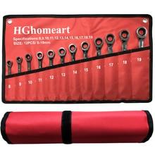In Acciaio cromato Testa Fissa Chiave Auto Chiave Chiave A Cricchetto Set di Strumenti Manuali Universale Socket Spanner Wrench