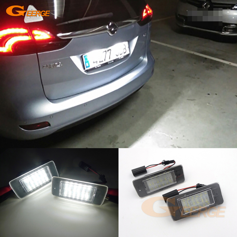 For Opel Zafira Tourer C P12 2011-2016 Pre-facelift Excellent Ultra Bright 3528 Epistar Led License Plate Lamp Light No Error