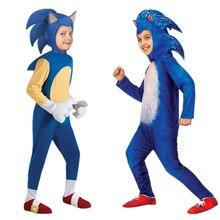 Halloween deluxe soni hedgeho traje jogo para crianças cosplay rpg halloween traje crianças