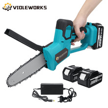 288V 8 Inch Electric Saw Chainsaw with 2PC 22980mAh Battery Brushless Motor Rechargeable Wood Cutter Also For Makita Battery