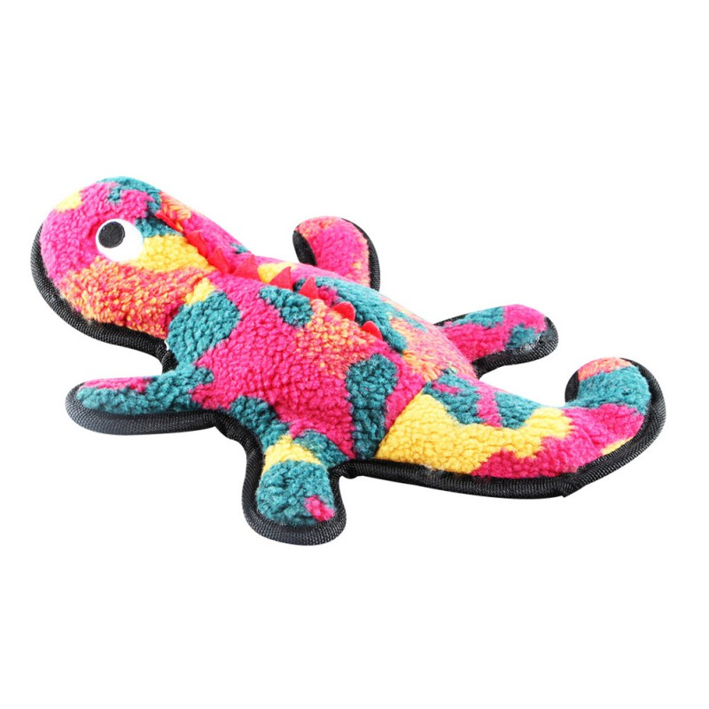 Pets Plush House Lizard-shaped Doll Dog Bite-resistant Squeaky Toy For Teeth Cleaning