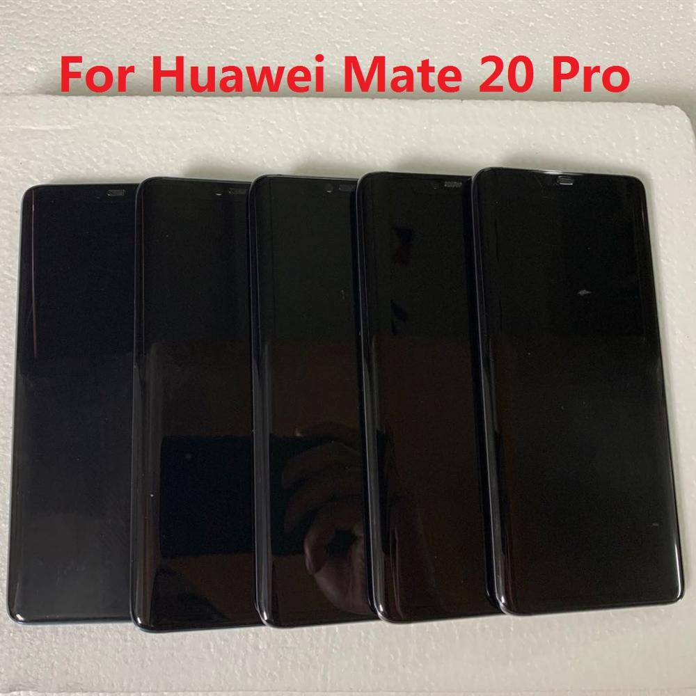 For Huawei Mate20 Pro Lcd Original Super AMOLED  Display Touch With Frame With Fingerprint With Black Dot Screen Assembly
