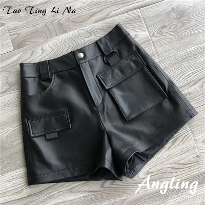 2019 New Fashion Natural Genuine Real Sheep Leather Shorts G35