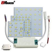 1/5 set di LED PCB + Kit di Driver 6W 12W 18W HA CONDOTTO Il Downlight della luce di Alluminio del Dissipatore di calore SMD5730 110lm/w Piazza Fonte di Luce Per lampada di Pannello