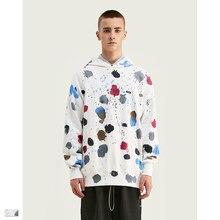 Cooo  Coll Men women hoodies hip hop kanye west oversize Splashing ink streetwear asap rocky tops sweatshirt clothes