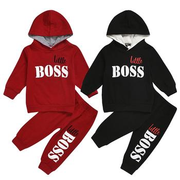 Little Boss zestawy ubrań dla chłopców bawełna jesień ubranka chłopięce dla niemowląt Casual wiosenna bluzy i spodnie dla dzieci boże narodzenie kombinezon dla dzieci ubrania dla dzieci tanie i dobre opinie Na co dzień CN (pochodzenie) Z kapturem Pulower XX-TZ COTTON POLIESTER Chłopcy Pełne REGULAR Dobrze pasuje do rozmiaru wybierz swój normalny rozmiar