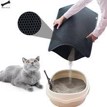 Водонепроницаемый коврик для кошачьего туалета, двухслойный коврик для кошачьего туалета, коврик для кошачьего туалета, чистящий коврик, Аксессуары для кошек