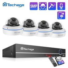 Techage H.265 8CH 5MP HD POE NVR Kit POE Hệ Thống Camera Quan Sát Âm Thanh Micro Dome IP Camera Trong Nhà P2P Video An Ninh giám Sát Bộ