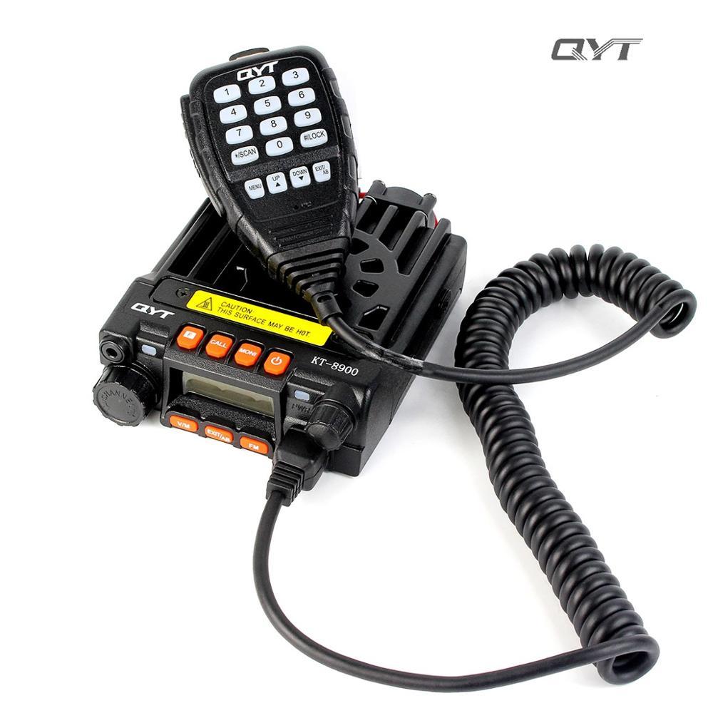 QYT KT-8900 Mini Mobile Radio Dual Band 136-174/400-480MHz 25W High Power Transceiver KT8900 Best Sale Car Radio