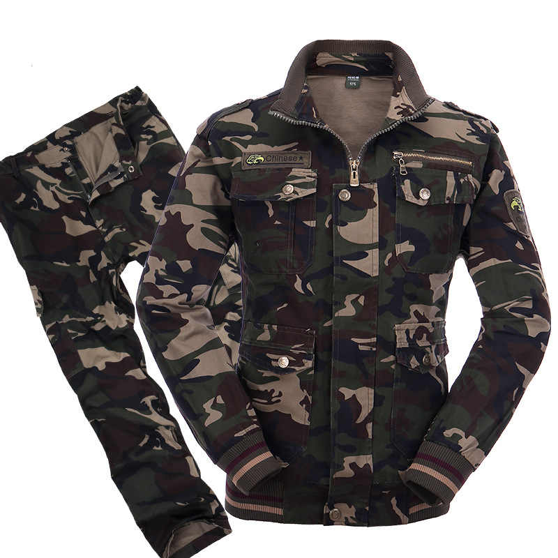Military Uniform Tactical Camouflage Suits Army Combat Jacket Cargo Pant Uniforme Militar Tactical CS Softair Mens Work Clothes