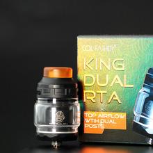 Cewka ojciec król Dual RTA 4ml pojemności zbiornika z 810 Delrin kroplówki końcówka atomizer do elektronicznego papierosa tanie tanio Coil Father Wymienne King Dual RTA Metal Electronic Cigarette Atomizer Black Silver