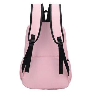 Image 4 - 2020 styl Preppy moda Cartoon kobiety tornister plecak podróżny dla dziewczyn nastolatek stylowa torba na laptopa plecak dziewczyna tornister