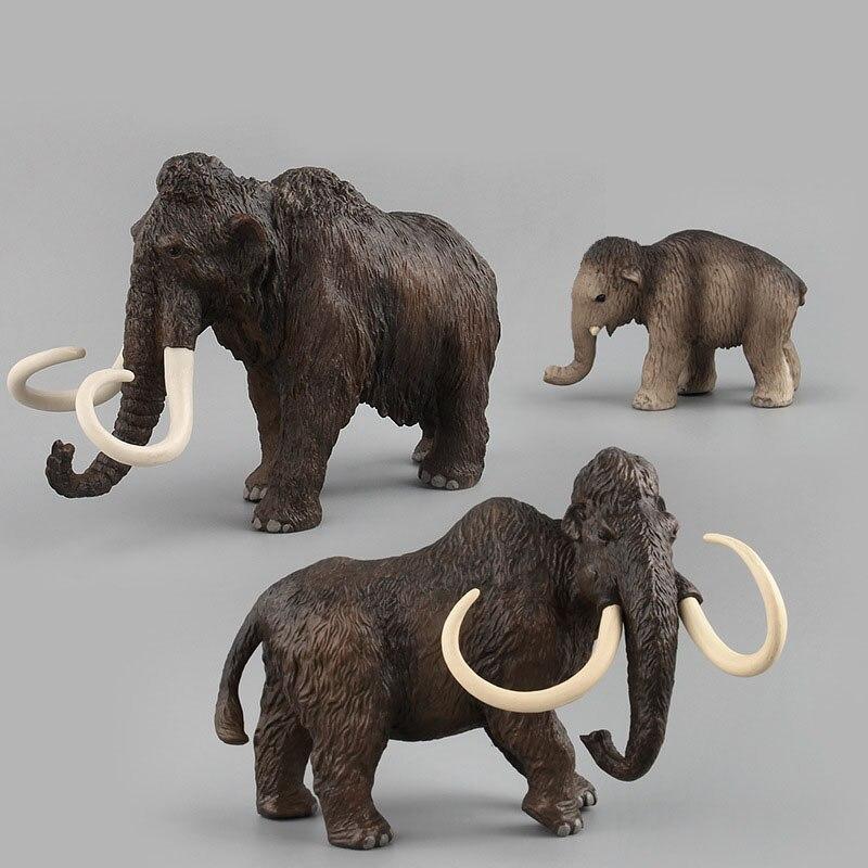 Animal Modelo Pvc mamut Animal juguete Modelo juguetes para niños simulación Modelo juguete interesante hecho a mano regalo infantil