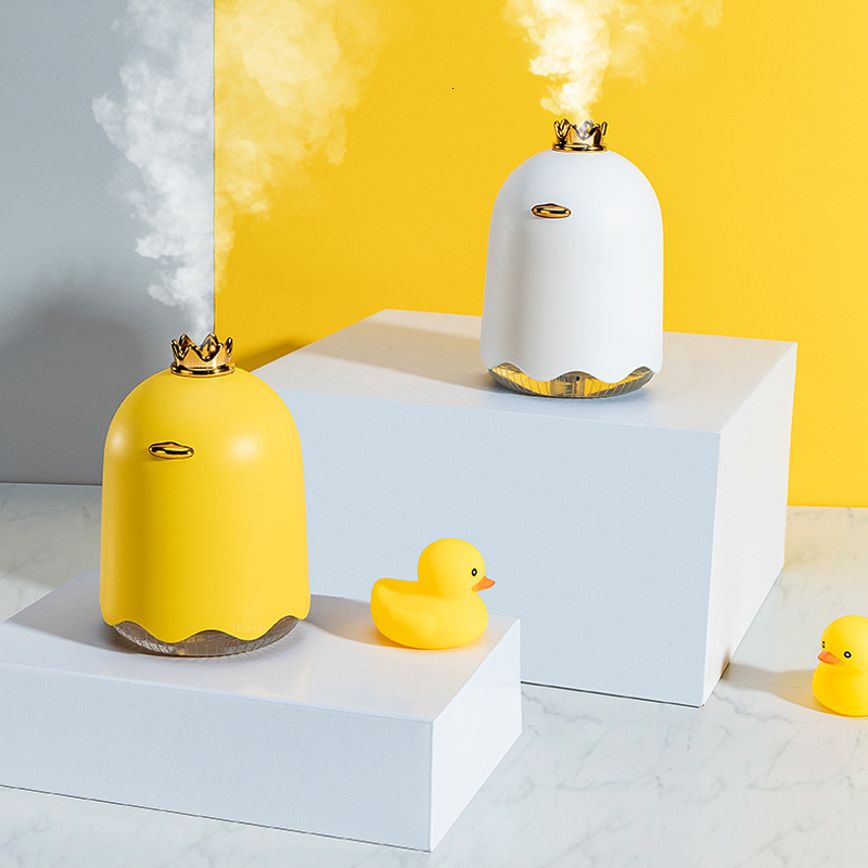 Lovely Duck Air Humidifiers USB Ultrasonic Essential Aromatherapy Oil Diffuser For Office Car Air Mist Maker Fogger Purifier