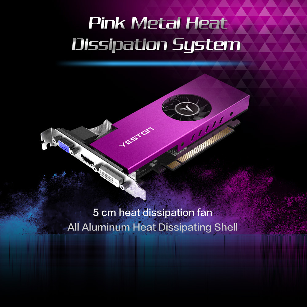 Yeston RX550-2G D5 LP Graphic Card Gaming Graphic Card 1183/6000MHz 2G/64bit/GDDR5 Discrete Graphics Card 3