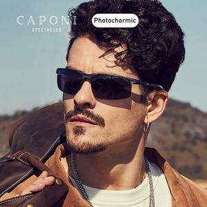 Image 2 - CAPONI sportowe okulary przeciwsłoneczne dla mężczyzn do ochrony oczu spolaryzowane odcienie do wędkowania fotochromowe ultralekkie okulary przeciwsłoneczne kierowcy BS8033