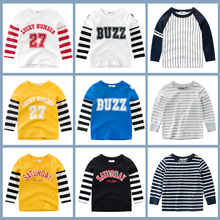 Tees T Shirt Boys Clothing Kids Girls Baby Tops Cotton Outwear The Letter Long Sleeves Children Clothes Toddler Infant Tee db7681 dave bella spring infant baby girls fashion floral t shirt kids cotton lovely tops children high quality tee