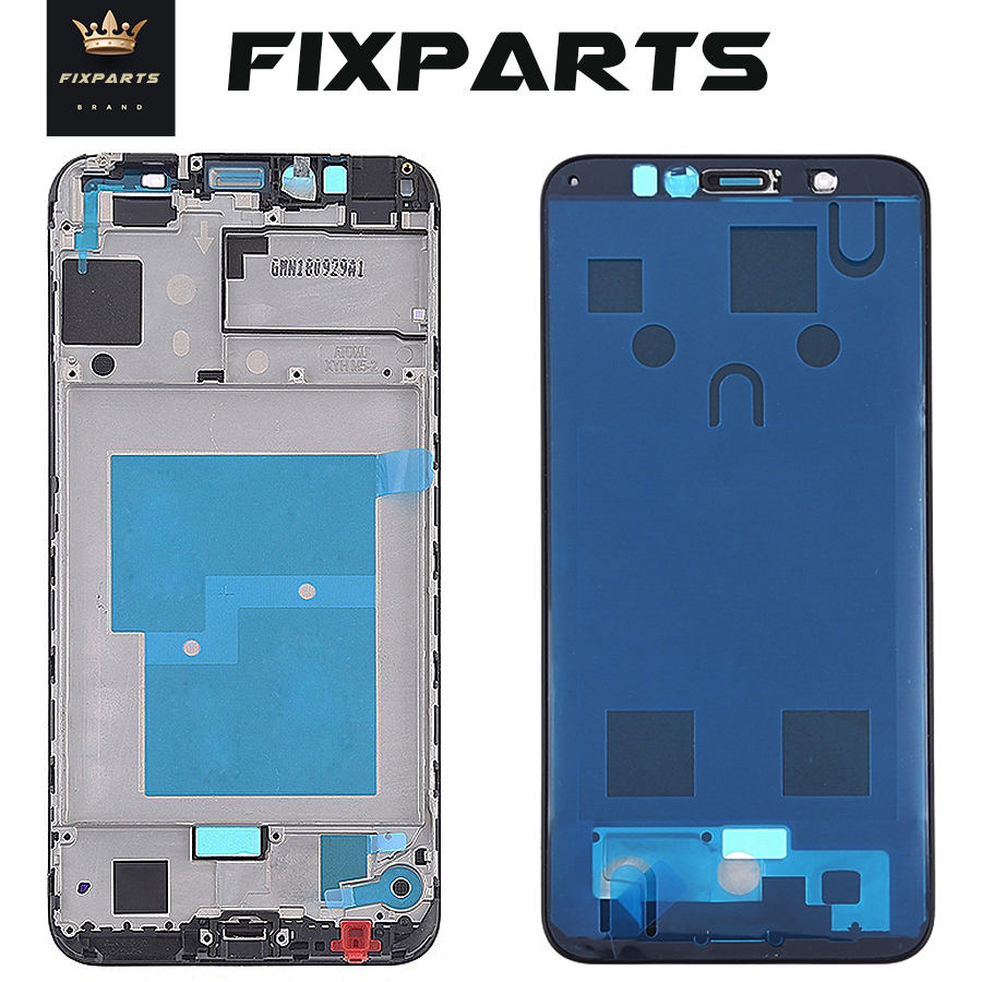 Original Huawei Y6 2018 Front Frame Middle Mid Bezel Housing Honor 7A Pro Faceplate Chassis For Huawei Y6 Prime 2018 Front Frame