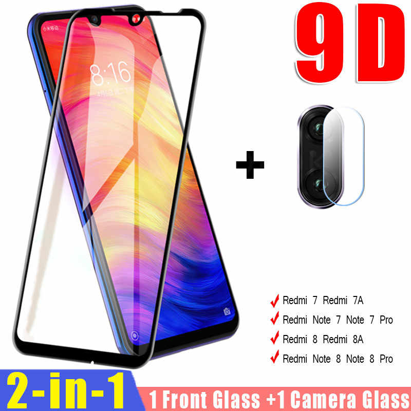 2 in 1 Camera Lens Tempered Glass For Xiaomi Redmi 7 Note 7 8 5 Pro Screen Protector On The For Redmi 8 8A 7 7A Protective Glass